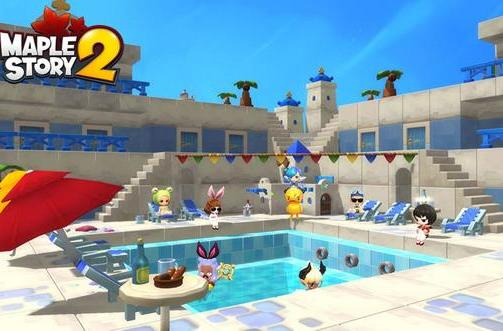 MapleStory 2 features expensive housing, limited land