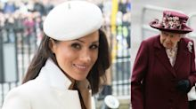 Meghan Markle stuns in white as she makes appearance with the Queen