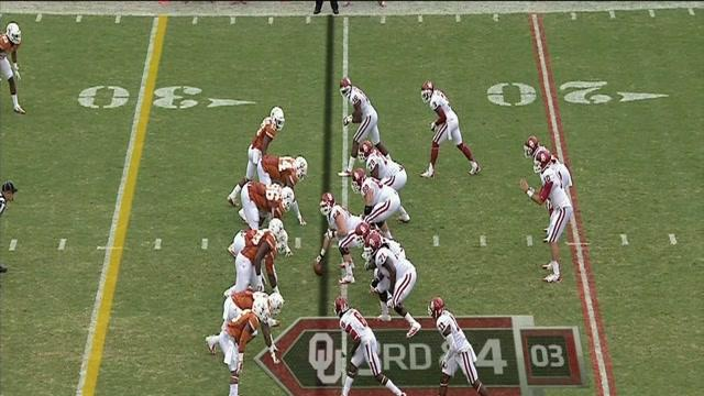 Texas - Whaley Pick Six vs Oklahoma