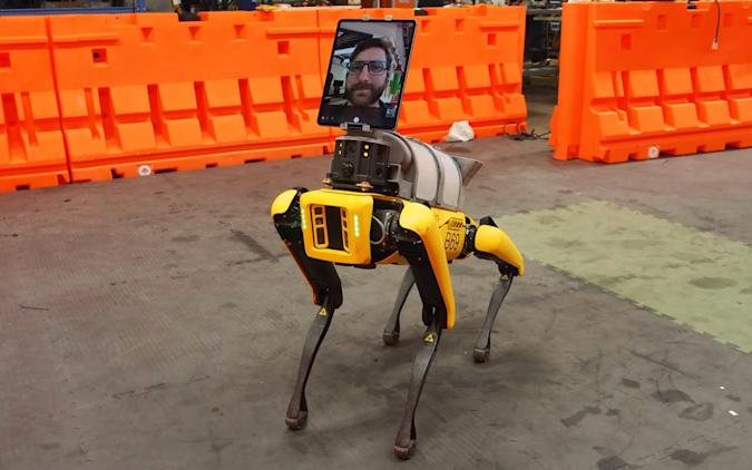 Boston Dynamics' Spot Robot triages COVID-19 patients at Brigham and Women's Hospital.