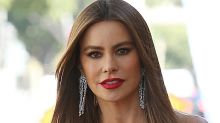 Sofia Vergara Gets Dolled Up in a Lacy Bustier, Tailored Trousers & 6-Inch Heels