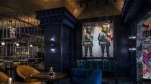 Banksy artwork displayed in Las Vegas casino restaurant