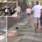 Barcelona terror: Horrified witness posts video of aftermath of attack
