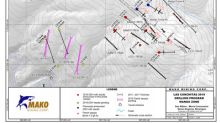 Further near surface, high-grade gold intercepted at Las Conchitas, including 36.55 g/t gold and 47.8 g/t silver over 1.7 meters