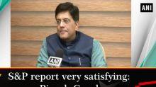 S and P report very satisfying: Piyush Goyal