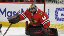 Blackhawks goalie Crawford returns after positive virus test
