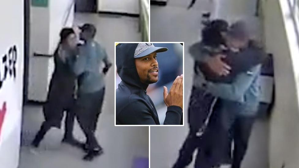 Coach's incredible response to student with gun caught on CCTV