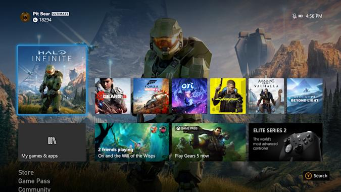 Xbox user interface redesign