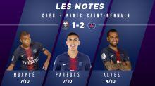 Caen-PSG (1-2) : les notes des Parisiens