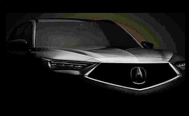 ACURA豪華休旅2022年式全新MDX與MDX S下周將問世,原廠釋出預告圖展現華麗的車頭
