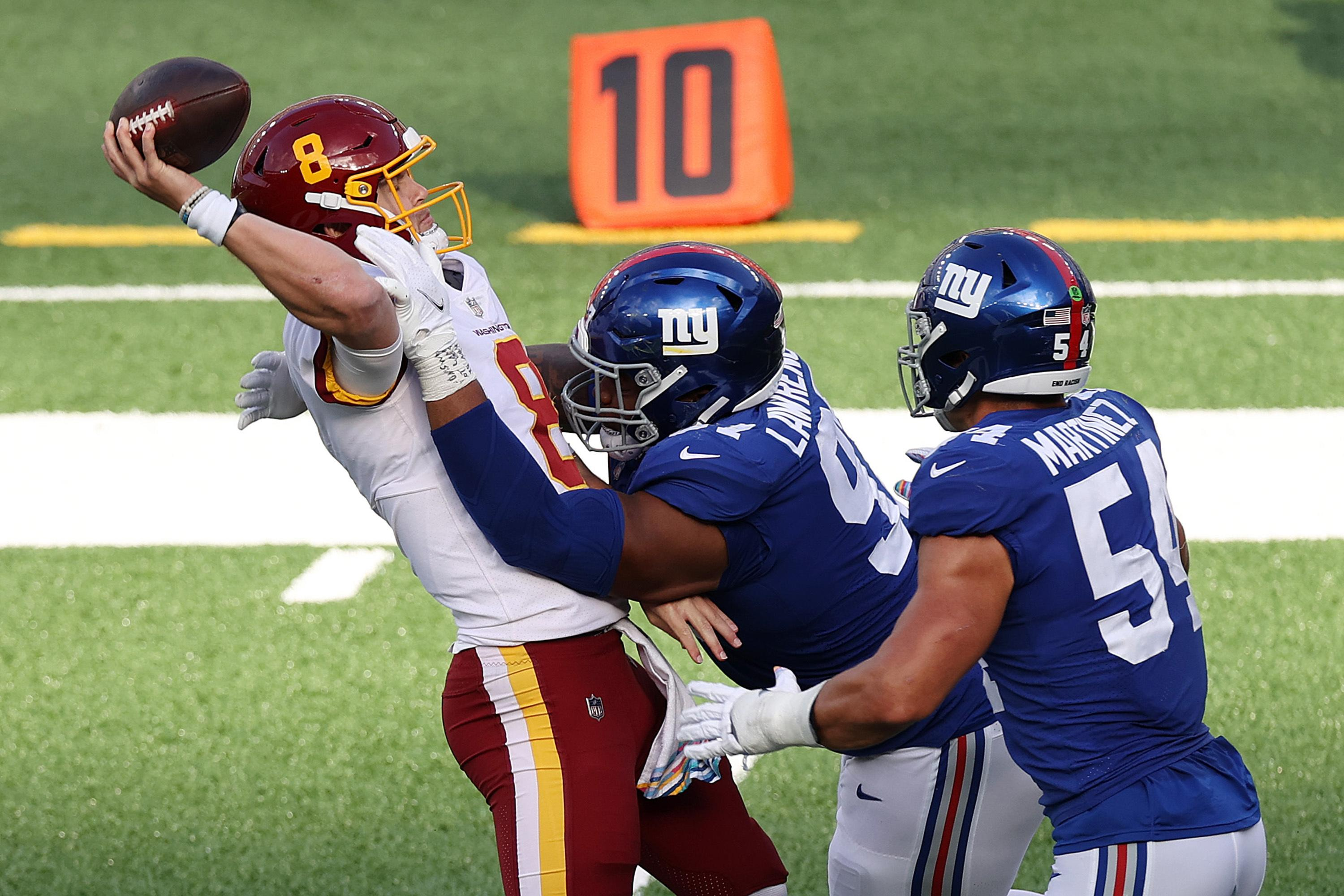 Joe Judge, Giants get first win 20-19 after Washington's Ron Rivera rolls dice late