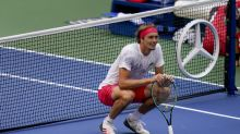 The Latest: Zverev, Carreno Busta start US Open men's semis