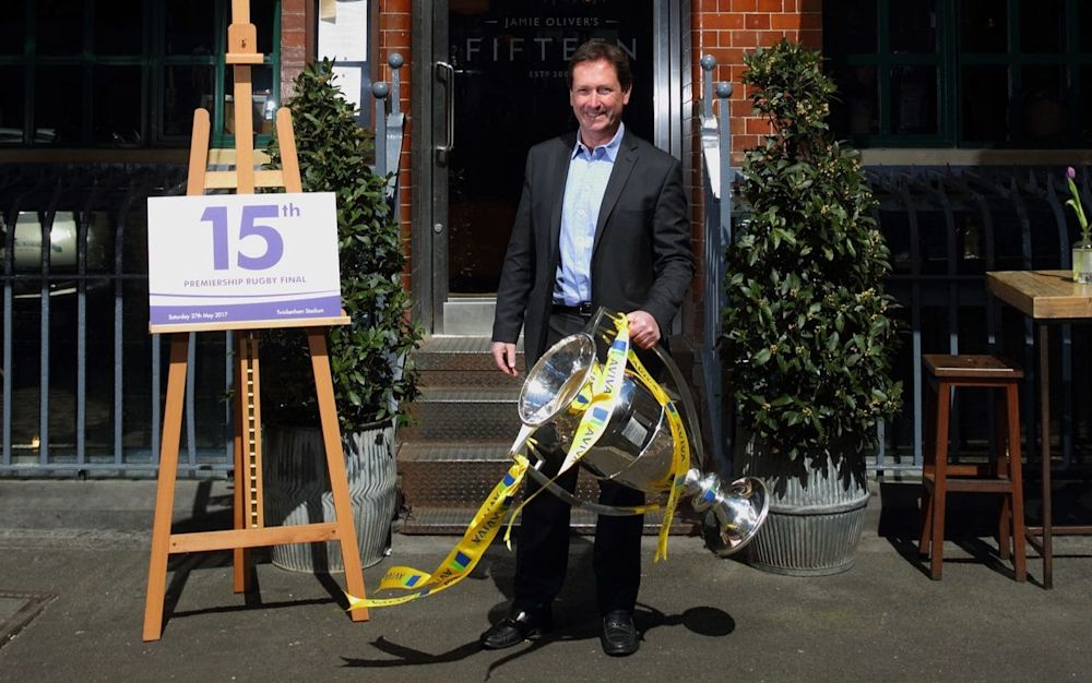 Mark McCafferty was speaking at the launch of the celebrations for the 15th Premiership Rugby final - Getty Images Europe