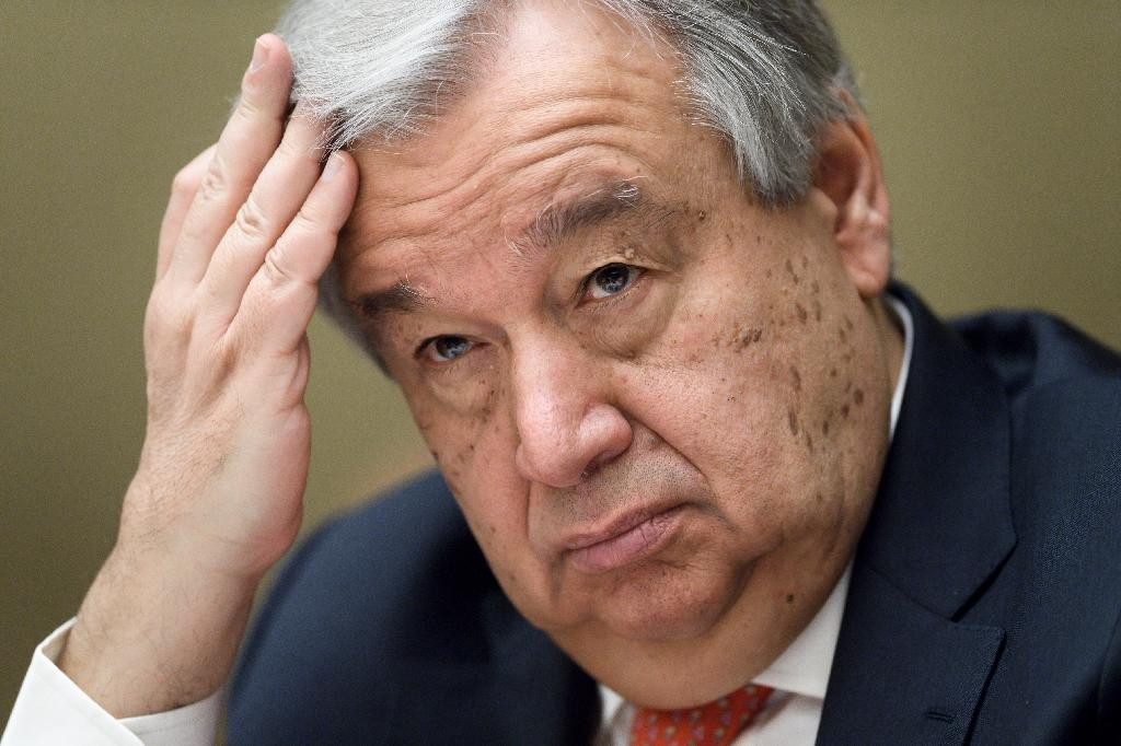 Guterres launched the Yemen funding drive at a conference in Geneva (AFP Photo/Fabrice COFFRINI)