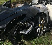 Man's brand new Ferrari goes up in flames within an hour of purchasing it