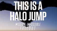 Watch Tom Cruise perform dangerous halo jump stunt for 'Mission: Impossible - Fallout'