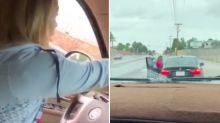 Mum filmed spanking son, 14, after he steals her BMW to pick up friend