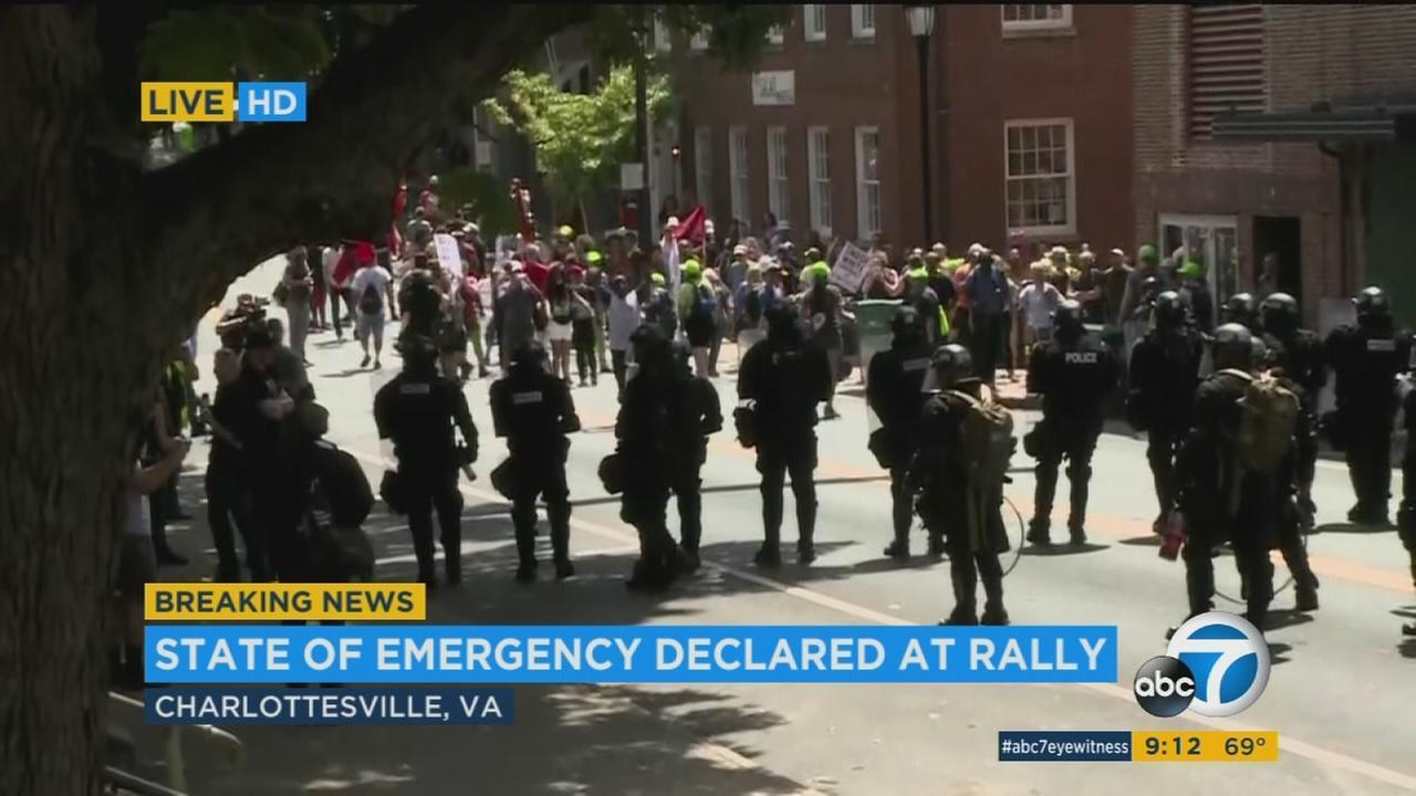 Car Strikes Group At White Nationalist At Rally In