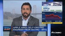 Apple has an idea for self-driving cars to tell riders what they're about to do