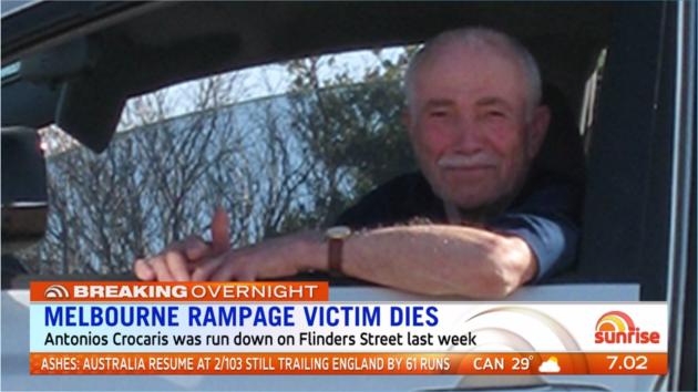 Melbourne Rampage Victim Dies Video