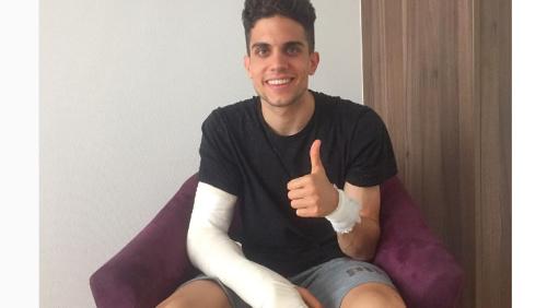 Marc Bartra recebe alta depois de se ferir em ataque ao ônibus do Dortmund