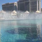 Bellagio Fountains Turned On as Vegas Reopens Casinos