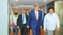 Kerry arrives in Myanmar for ASEAN