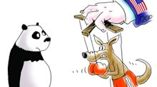 'Bitter pill to swallow': Chinese media mocks Australia with cartoon