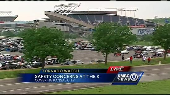 Royals have storm safety plan for game day