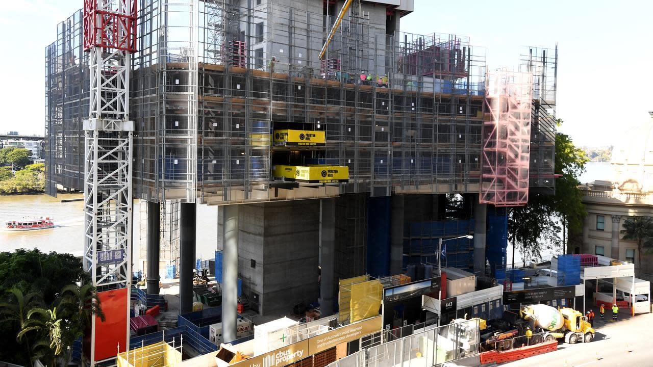 Construction work falls in December