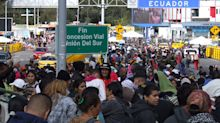 Calamidad pública en el paso fronterizo de Colombia con Ecuador por los venezolanos