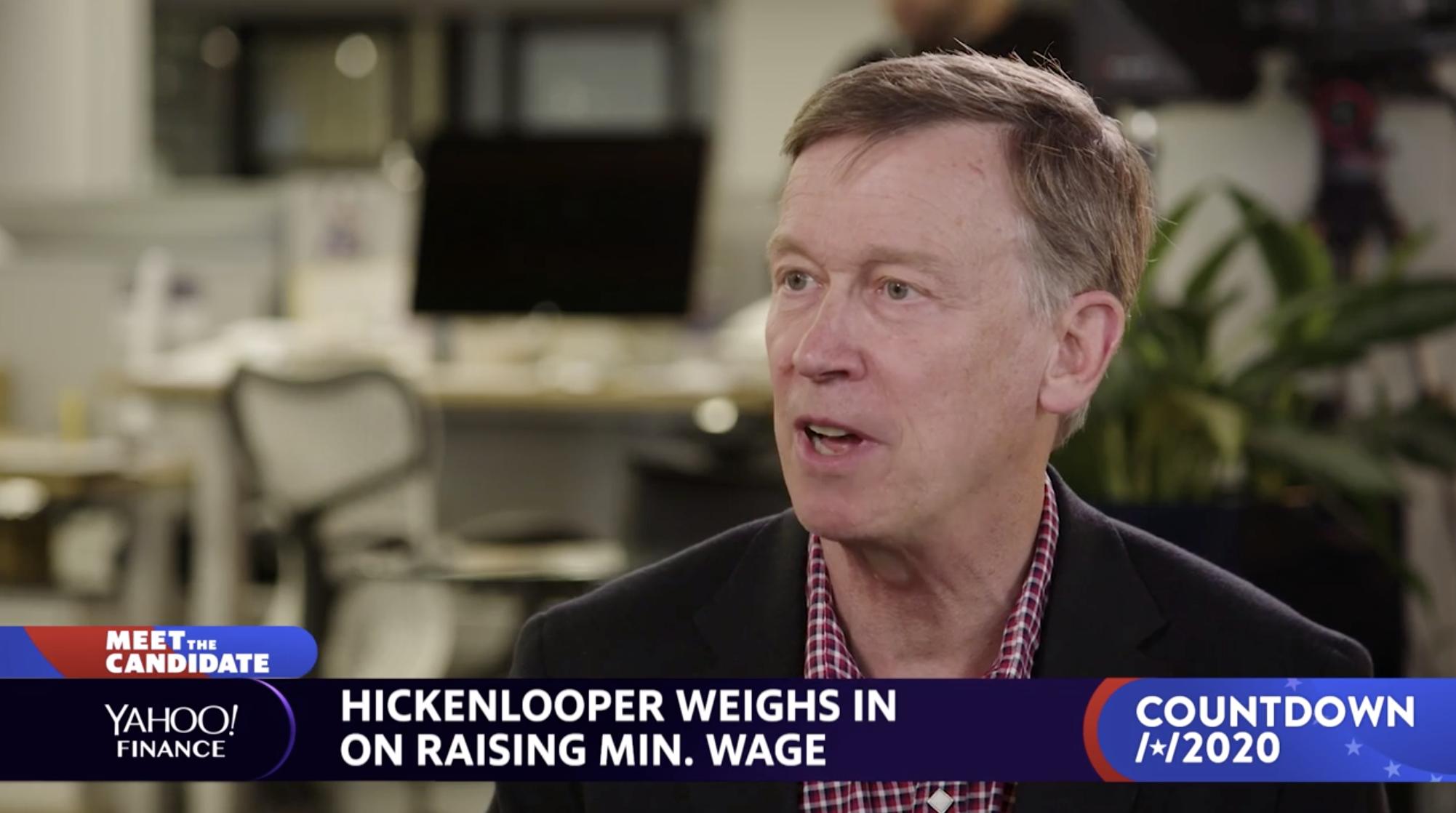 John Hickenlooper weighs in on raising the minimum wage