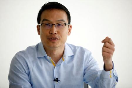 Grab's President Ming Maa speaks during an interview with Reuters in Singapore
