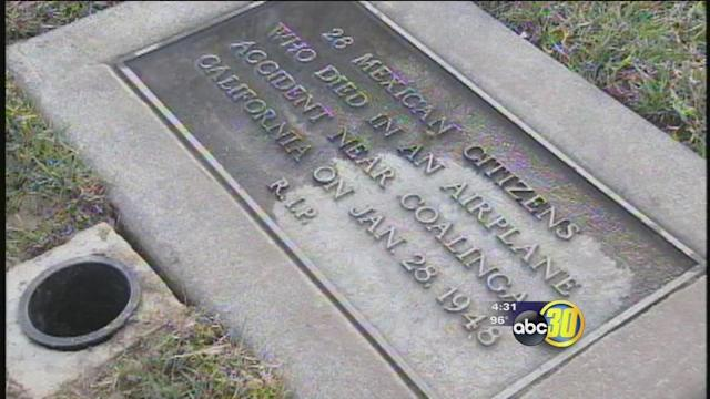 Fresno memorial unveiled victims of 1948 plane crash