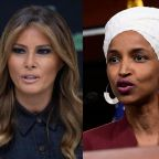 Melania Trump remains silent on husband's racist tweets despite having been a US citizen for shorter time than Ilhan Omar