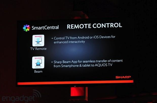 Sharp announces second screen support on iOS and Android for its SmartCentral HDTVs