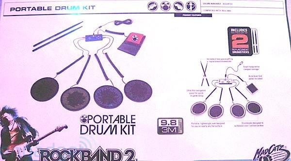 Mad Catz Rock Band 2 cymbals, portable drums, premium mic, and more: spy shots galore