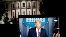 La interrupción del mensaje de Trump en TV, algo imposible que pase en México con AMLO