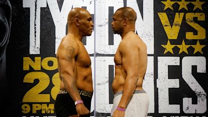 Tyson and Jones draw in entertaining fight