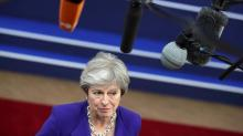 May says Brexit transition era could grow, angers many in UK