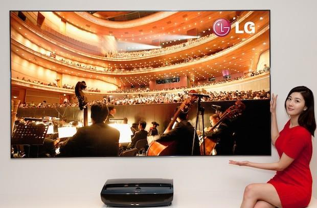 LG Cinema Beam short-throw laser projector and 100-inch screen released in Korea
