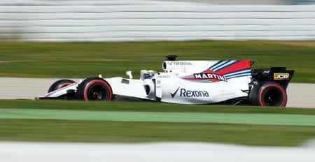 Massa durante teste da F1 em Barcelona
