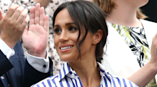 Meghan Markle wore £80 shirt and Stan Smith trainers for Luminary Bakery visit