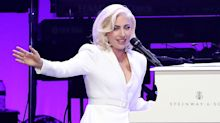 Lady Gaga Poses With All the Ex-Presidents at Hurricane Relief Concert