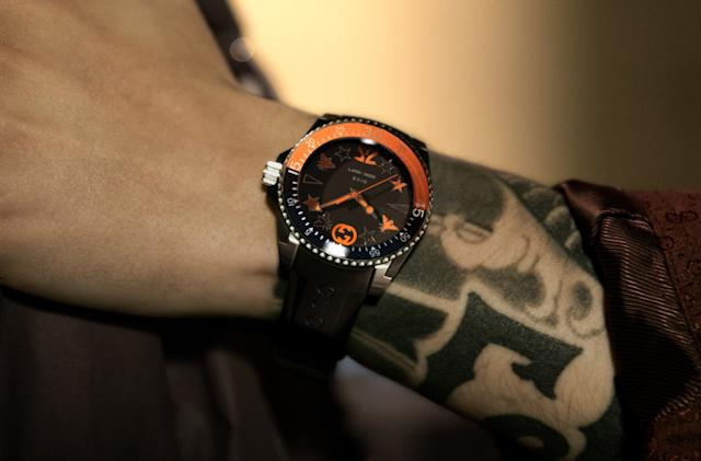 Gucci takes on esports fashion with a $1,600 Fnatic dive watch