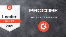 Procore Earns Top Honors for Five Key Categories in G2 2021 Summer Report