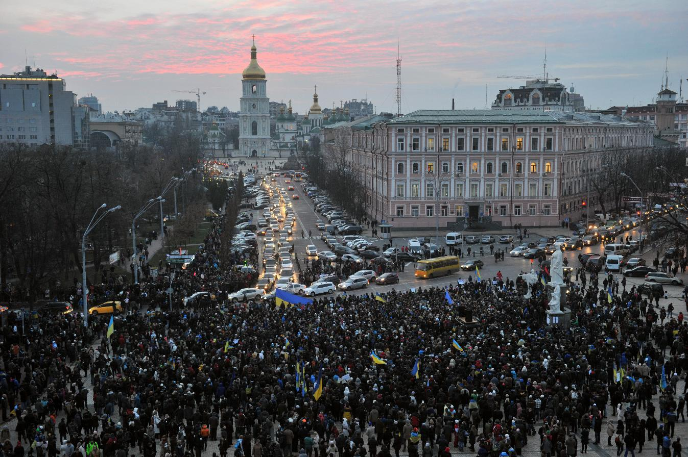 """The """"lustration law"""" approved Thursday by Ukraine's president was a rallying cry of the protests that convulsed Kiev last winter (AFP Photo/Genya Savilov)"""
