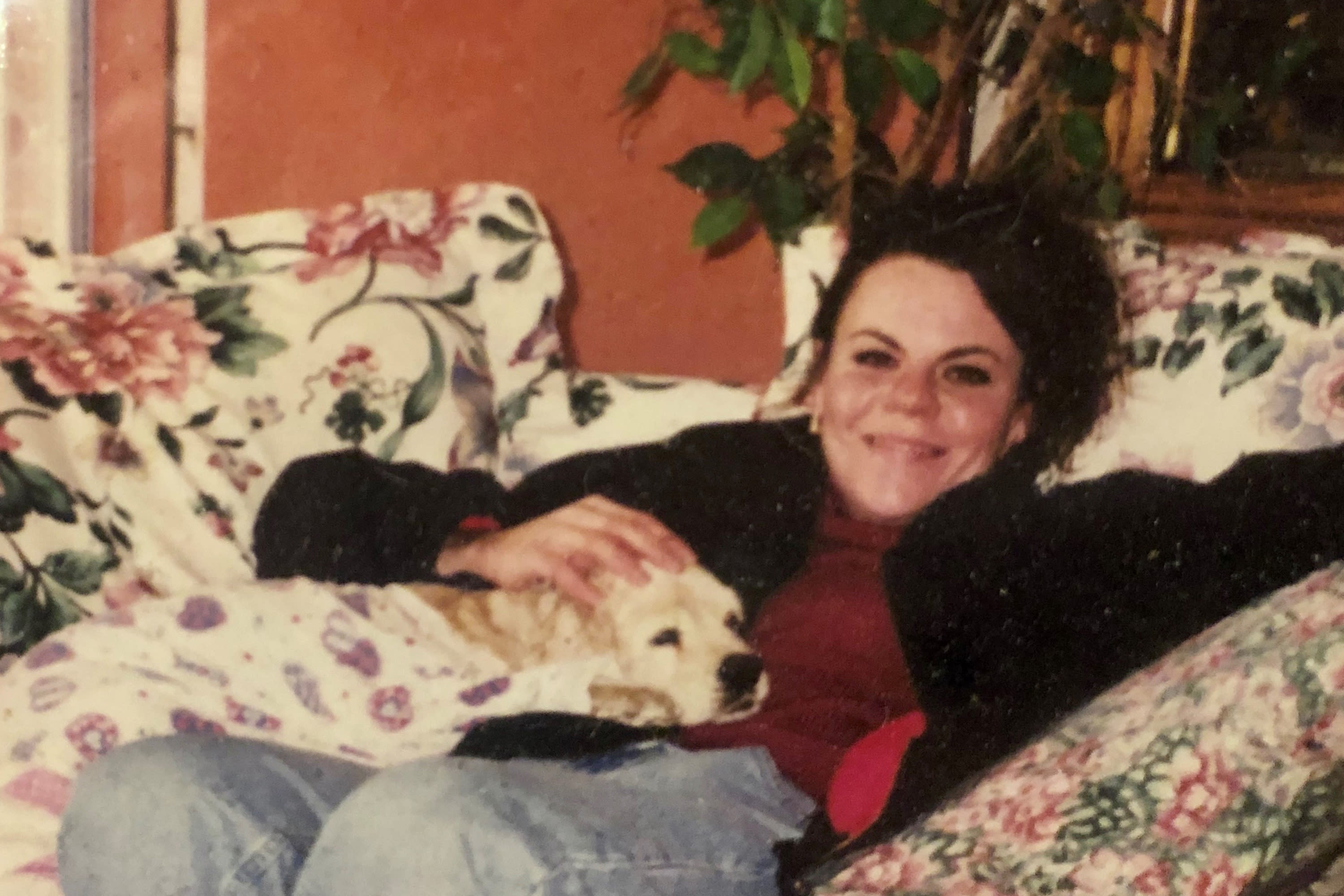 This photo provided by Lana Rivera from 1999, shows Melanie Billhartz at her mother's house in El Paso Texas. Authorities say Billhartz was strangled more than 17 years ago by Texas death row inmate Justen Hall. Hall is set to be executed Wednesday evening, Nov. 6, 2019, for Billhartz's death in October 2002. (Photo courtesy of Lana Rivera via AP)