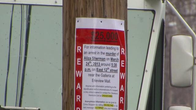 Signs solicit info in Sherman murder