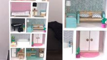 Mum's epic DIY dollhouse hack